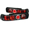 ANZO 1990-1993 Acura Integra Taillights Black w/ Halo