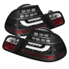 Spyder BMW E46 3-Series 04-06 2Dr Light Bar Style LED Tail Lights Black ALT-YD-BE4604-LBLED-BK