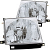 ANZO 1997-2000 Toyota Tacoma Crystal Headlights Chrome