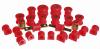 Prothane 01-03 Honda Civic Total Kit - Red