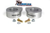 ReadyLift Suspension 07-15 Jeep Wrangler JK 2.0in T6 Billet Aluminum Leveling Kit Anodized - Silver