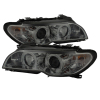 Spyder BMW E46 3-Series 04-06 2 DR Projector Halogen Model- LED Halo Smke PRO-YD-BMWE4604-2DR-HL-SM
