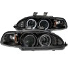 ANZO 1992-1995 Honda Civic Projector Headlights w/ Halo Black 1pc