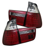 Spyder BMW E53 X5 00-06 4PCS LED Tail Lights Red Clear ALT-YD-BE5300-LED-RC