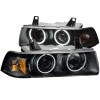 ANZO 1992-1998 BMW 3 Series E36 Projector Headlights w/ Halo Black (CCFL) G2