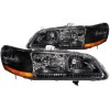 ANZO 1998-2002 Honda Accord Crystal Headlights Black