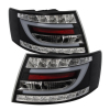 Spyder Audi A6 05-08 4Dr Sedan( not fit Quattro) Light Bar LED Tail Lights Blk ALT-YD-AA605-LBLED-BK