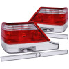 ANZO 1995-1999 Mercedes Benz S Class W140 Taillights Red/Clear