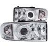 ANZO 1994-2001 Dodge Ram Projector Headlights w/ Halo Chrome