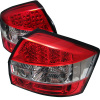 Spyder Audi A4 02-05 LED Tail Lights Red Clear ALT-YD-AA402-LED-RC