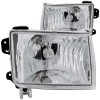 ANZO 1998-2000 Nissan Frontier Crystal Headlights Chrome