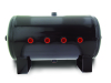 Air Lift 5 Gal Air Tank- 12 1/2in H X 20in L With (8) 1/2in Ports
