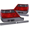 ANZO 1995-1999 Mercedes Benz S Class W140 Taillights Red/Smoke