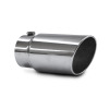 JAMO 5in In - 6in Out - 12in Length Stainless Steel Rolled Polished Tip