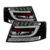 Spyder Audi A6 05-08 4Dr Sedan Only Version 2 Light Bar LED Tail Lights Blk ALT-YD-AA605V2-LBLED-BK