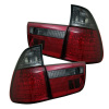 Spyder BMW E53 X5 00-06 4PCS LED Tail Lights Red Smoke ALT-YD-BE5300-LED-RS