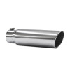 JAMO 4in In - 5in Out - 18in Length Stainless Steel Rolled Polished Tip