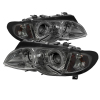 Spyder BMW E46 3-Series 02-05 4DR Projector Headlights 1PC LED Halo Smke PRO-YD-BMWE4602-4D-AM-SM