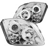 ANZO 1997-2001 Honda Prelude Projector Headlights w/ Halo Chrome