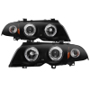 Spyder 99-01 BMW E46 3 Series 4DR Projector Headlights 1PC LED Halo (PRO-YD-BMWE46-4D-HL-AM-BSM)