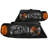 ANZO 1998-2002 Lincoln Navigator Crystal Headlights Black
