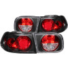 ANZO 1992-1995 Honda Civic Taillights Black