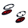 SMY Gloss Black Subaru Emblem Kits With Red Stars