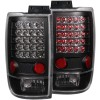 ANZO 1997-2002 Ford Expedition LED Taillights Black