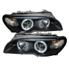 Spyder BMW E46 3-Series 04-06 2 DR Projector Halogen Model- LED Halo Blk PRO-YD-BMWE4604-2DR-HL-BK