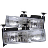 Spyder Chevy C/K Series 1500/2500 88-99/Chevy Tahoe 95-99Crystal Glass Headlights Chrm HD-YD-CCK88-C
