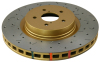DBA 05-08 Subaru Legacy GT Front Drilled & Slotted 4000 Series Rotor