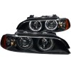ANZO 1997-2001 BMW 5 Series Projector Headlights w/ Halo Black
