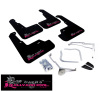 Rally Armor 11-14 Subaru WRX (Hatch Only) UR Black Mud Flap w/ Pink BCA Logo