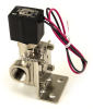 Air Lift 1/2in Nickel Plated 300 PSI Solenoid With Bracket