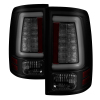 Spyder 09-16 Dodge Ram 1500 Light Bar LED Tail Lights - Black Smoke ALT-YD-DRAM09V2-LED-BSM