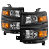 Spyder Chevrolet Silverado 1500 14-15 (Non-HD) OEM Style Headlights - Black HD-JH-CS14-AM-BK