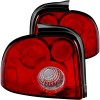 ANZO 1995-1999 Dodge Neon Taillights Red/Clear