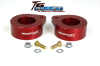 ReadyLift Suspension 07-15 Jeep Wrangler JK 2.0in T6 Billet Aluminum Leveling Kit Anodized - Red