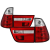 Spyder BMW E53 X5 00-06 4PCS Euro Style Tail Lights- Red Clear ALT-YD-BE5300-RC