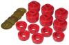 Prothane 07-14 Chevy Silverado Body Mount 12 Bushing Kit - Red