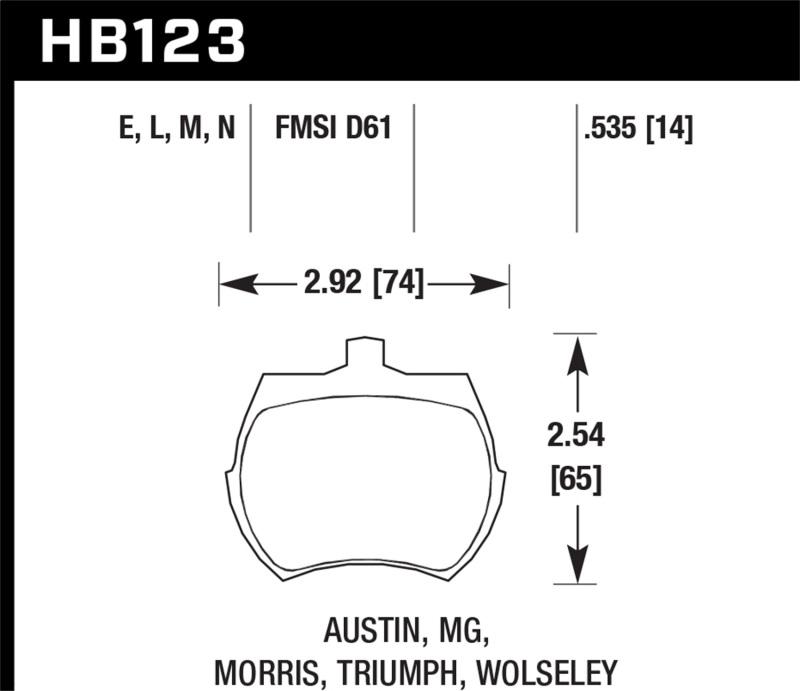 HAWK Blue 9012 Brake Pad Sets