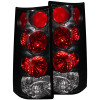 ANZO 1996-2002 Gmc Savana Taillights Black