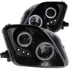 ANZO 1997-2001 Honda Prelude Projector Headlights w/ Halo Black w/ LED