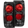 ANZO 1982-1994 Chevrolet S-10 Taillights Black