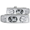 ANZO 1995-2005 Chevrolet Astro Van Crystal Headlights Chrome 1pc