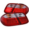 ANZO 1998-2003 Mercedes Benz Clk 320 W208 LED Taillights Red/Clear