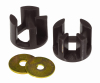 Prothane 00+ Dodge Neon Motor Mount Insert Kit - Race - Black