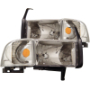 ANZO 1994-2001 Dodge Ram Crystal Headlights Chrome
