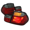 Spyder BMW E46 3-Series 99-01 4Dr Light Bar Style LED Tail Lights Red Smke ALT-YD-BE4699-4D-LBLED-RS