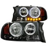 ANZO 1997-2004 Dodge Dakota Crystal Headlights Black 1pc